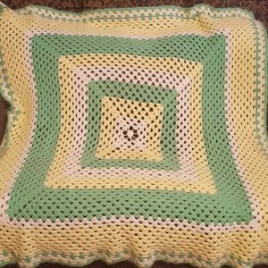 Hand crocheted blanket